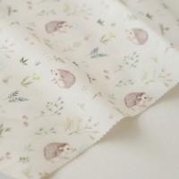 Отрез ткани «Ежики в цветах» Forest story, 40х50 см., Impressio Design