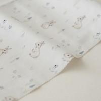 Отрез ткани «Зайки на голубом» Forest story, 40х50 см., Impressio Design