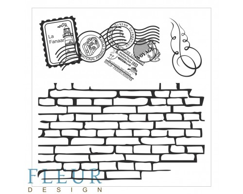 "Набор штампов ""Стена с марками"" FLEUR-design"