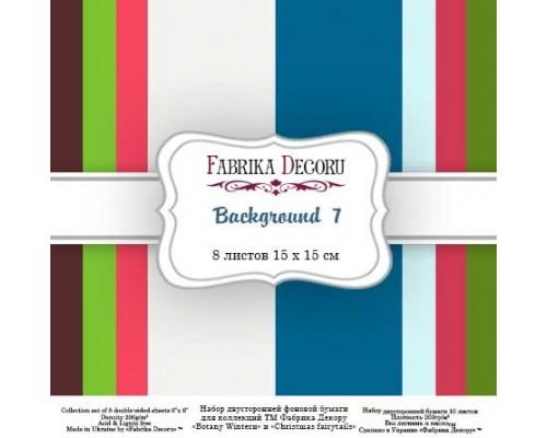 "Набор бумаги ""Backgrounds 7"", 15*15 см., Фабрика Декора"