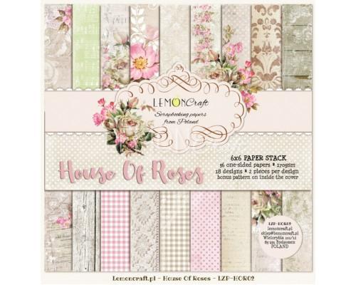 "Набор бумаги ""House of Roses NEW"" 15*15 см - 18 листов (1/2 набора) Lemoncraft"