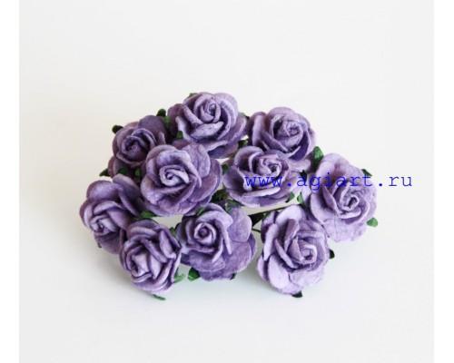Розы светло-фиолетовые 2 см, 5 шт.