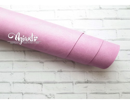Кожзам, Розово-сиреневый 50*35 см. Италия