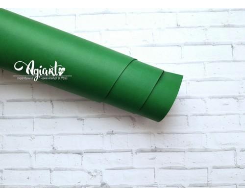 Кожзам, зеленый 50*70 см. Италия