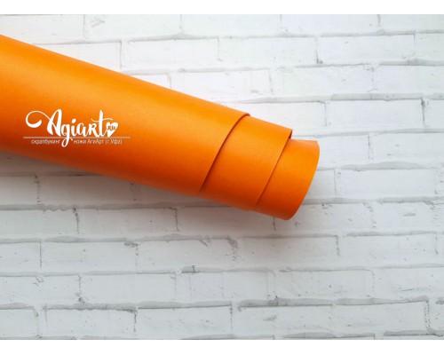 Кожзам, оранжевый 50*70 см. Италия