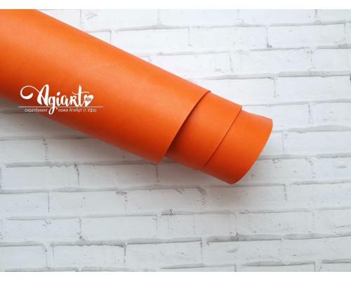 Кожзам, темно-оранжевый 50*35 см. Италия