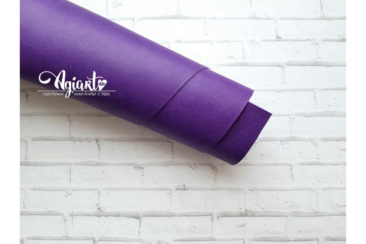 Кожзам, темно-фиолетовый 33*70 см. Италия