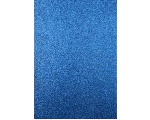 "Фоамиран глиттерный ""Тёмно-синий"" 20*30 см, 1 лист"