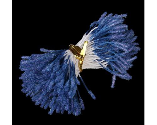 """Тычинки """"Пушистые синие"""", 1 пучок"""