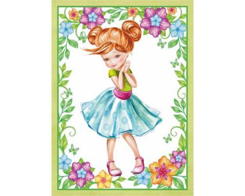 """Тканевая карточка """"Маленькая леди. Красавица"""", ScrapMania"""