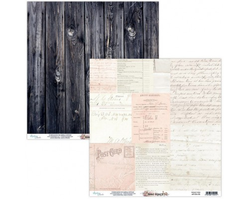 """Бумага двусторонняя коллекция """"Dear Diary"""" 30.5 х 30.5 см., Mintay paper"""