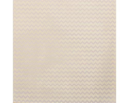 Калька декоративная с голографическим фольгированием «Зигзаги», 30,5х30,5 см, 1 лист, Артузор