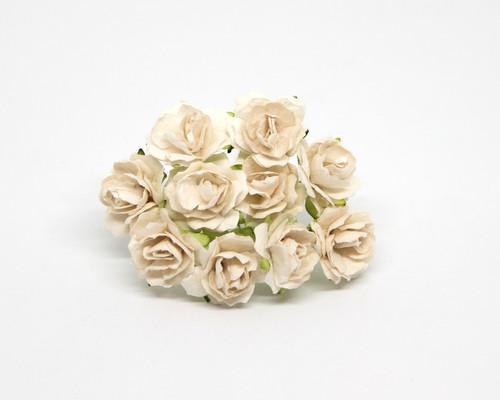 Кудрявые розы 2 см - Белые, 5 шт