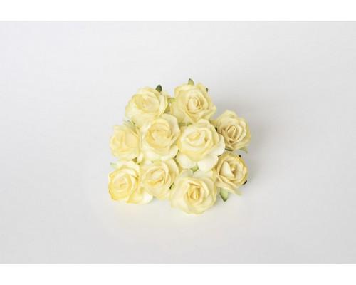Кудрявые розы 3 см - Св. желтый, 5 шт
