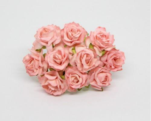 Кудрявые розы 3 см - Св. персиковые, 5 шт