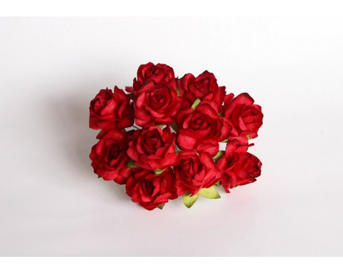 Кудрявые розы 3 см - Красные, 5 шт