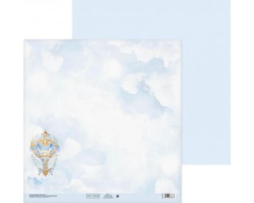 """Бумага двусторонняя """"Воздушные облака"""" 30.5 x 30.5 см Артузор"""