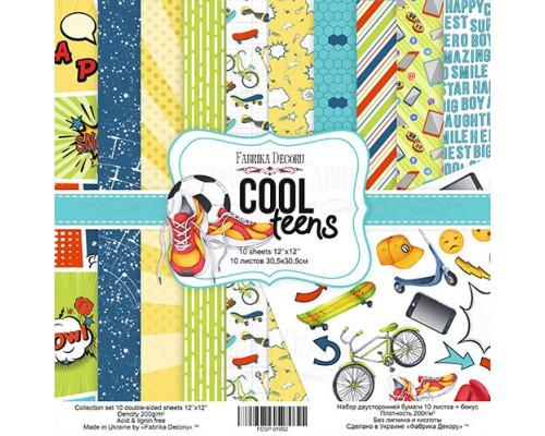 """Набор бумаги """"Cool Teens"""", 30,5*30,5см., Фабрика Декора"""