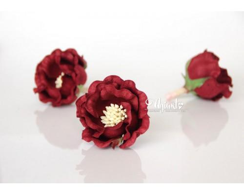 """Полиантовые розы """"Бордовый"""", 1 шт."""