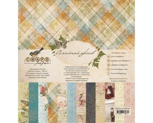 """Набор бумаги """"Семейный архив"""" 30,5*30,5 см Craft paper"""