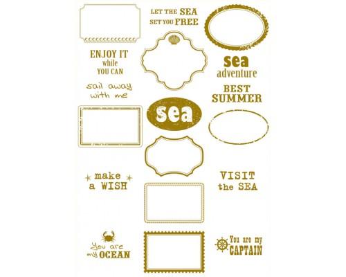 "Калька декоративная ""Sea Adventure"" Frames, 21 х 29,7 см Bee Shabby"