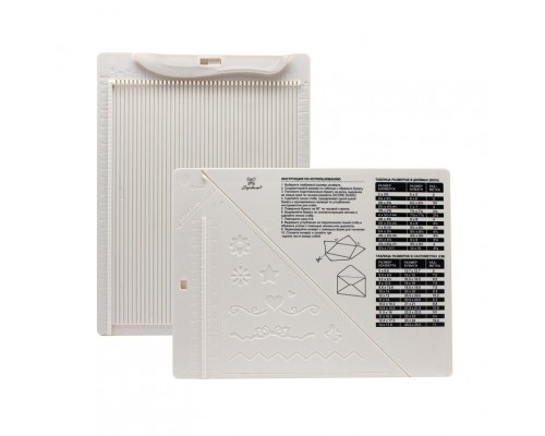 Доска для создания конвертов и открыток (биговки) двусторонняя, Рукоделие 21,5 x 16,2 см