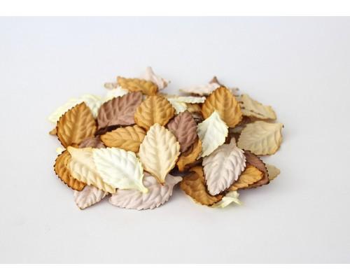 """Листья без стебельков """"Коричневый микс"""", 4*2,5 см, 10шт"""