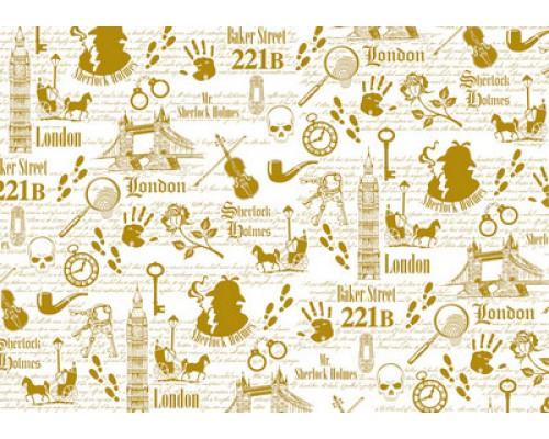 "Калька декоративная ""Sherlock Holmes"" detective, 21 х 29,7 см Bee Shabby"