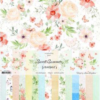 """Набор бумаги """"SWEET SUMMER"""" 8 листов 30*30см Summer Studio"""