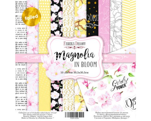 "Набор бумаги ""Magnolia in bloom"", 30,5*30,5см., Фабрика Декора"