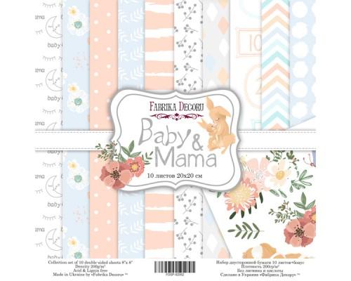 """Набор бумаги """"Baby&Mama"""", 20*20 см., Фабрика Декора"""