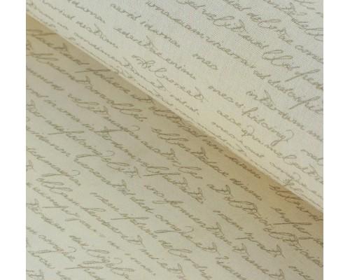 """Ткань хлопок """"Коллекция шебби шик - письмена"""", 48х50см"""