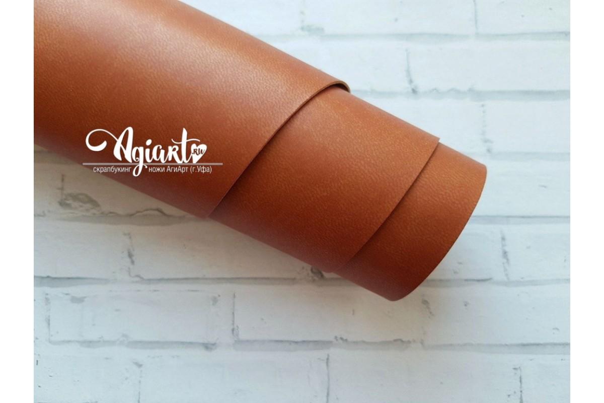 Кожзам, Рыжевато-коричневый матовый 33*70 см. Италия