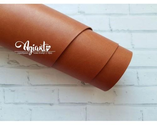 Кожзам, Рыжевато-коричневый матовый 50*35 см. Италия
