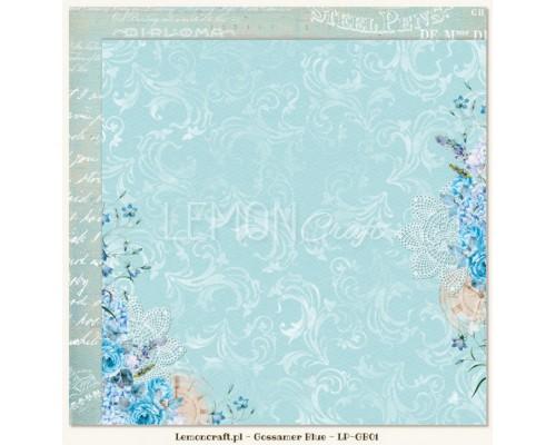 "Бумага двухсторонняя ""Gossamer blue 01"" Lemoncraft"