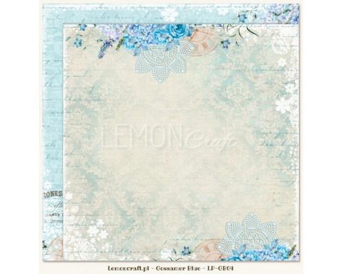 "Бумага двухсторонняя ""Gossamer blue 04"" Lemoncraft"