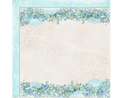 "Бумага двухсторонняя ""Forget me not"" Lemoncraft"