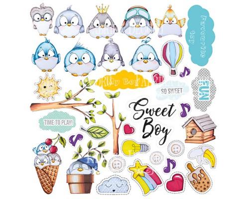 """Лист с картинками для вырезания """"My tiny sparrow boy"""" Фабрика Декору"""