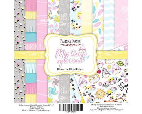 """Набор бумаги """"My tiny sparrow girl"""", 30,5*30,5см., Фабрика Декора"""