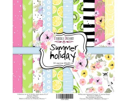 "Набор бумаги ""Summer holiday"", 20*20 см., Фабрика Декора"
