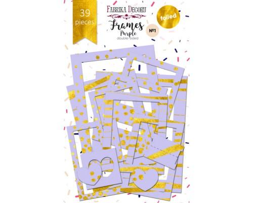 """Набор рамок с фольгированием №1 """"Purple"""" 39шт, Фабрика Декору"""