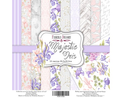 "Набор бумаги ""Majestic Iris"", 30,5*30,5см., Фабрика Декора"