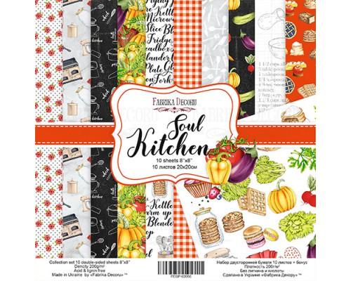 "Набор бумаги ""Soul Kitchen"", 20*20 см., Фабрика Декора"