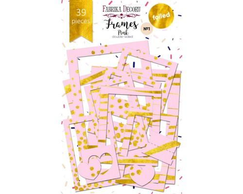 """Набор рамок с фольгированием №1 """"Pink"""" 39шт, Фабрика Декору"""