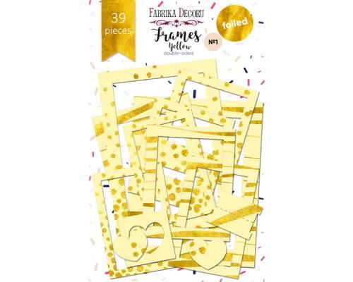 """Набор рамок с фольгированием №1 """"Yellow"""" 39шт, Фабрика Декору"""