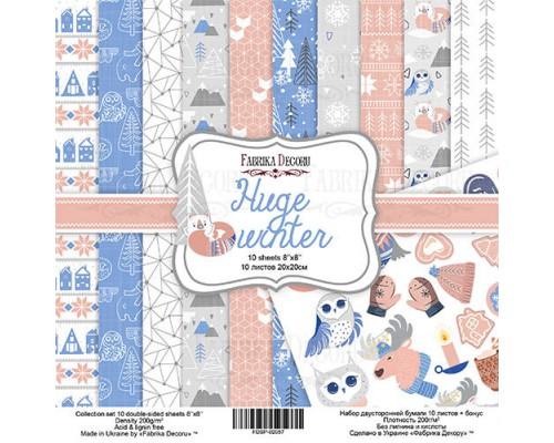 "Набор бумаги ""Huge Winter"", 20*20 см., Фабрика Декора"