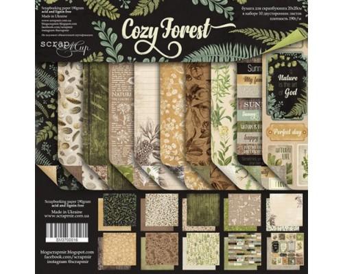 """Набор бумаги 20*20 """"Cozy Forest"""" ScrapМир"""