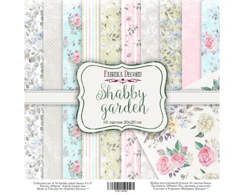 "Набор бумаги ""Shabby garden"", 20*20 см., Фабрика Декора"