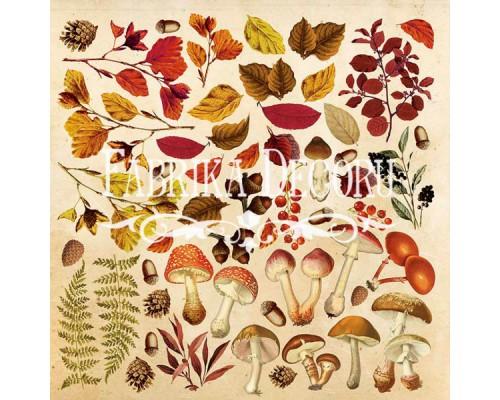 """Лист для вырезания. Набор №2 """"Botany autumn"""" Фабрика Декору"""