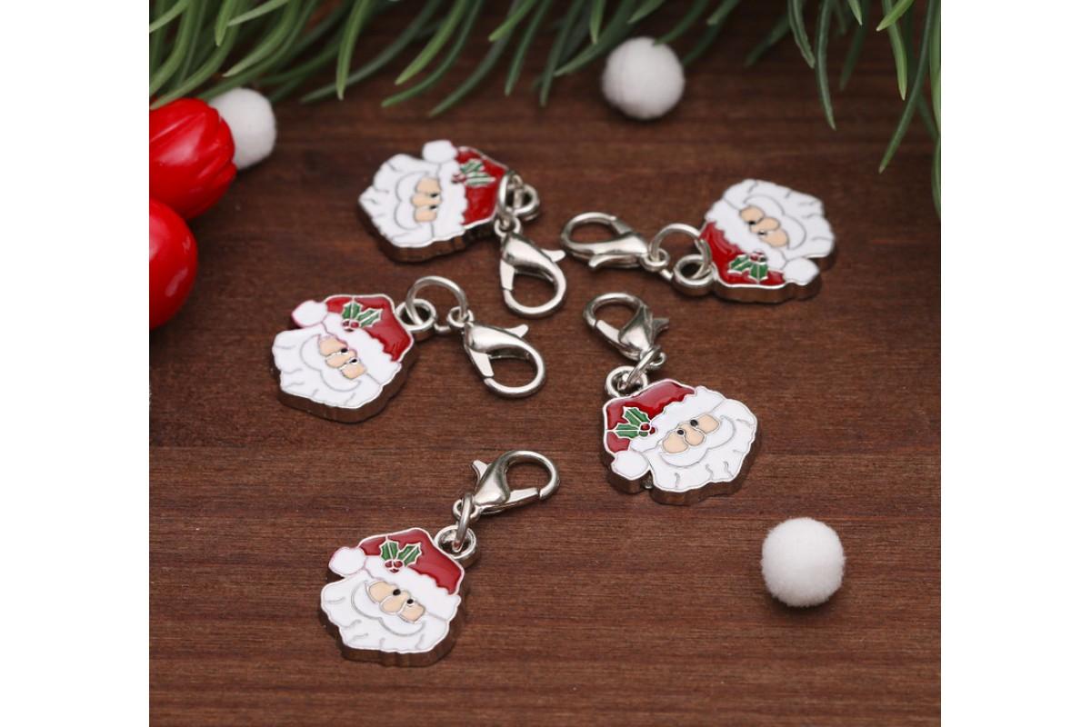 "Подвеска-шармик ""Дед Мороз"", 1шт."
